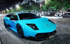 Blue lambo. Show stopper <3