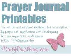Free prayer-journal printable sections