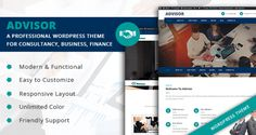 Advisor - A Professional WordPress Theme for Consultancy, Business, Finance Free Download