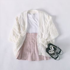 Preppy Outfits, Cute Summer Outfits, Girly Outfits, Korean Outfits, Retro Outfits, Cute Casual Outfits, Outfits For Teens, Kawaii Fashion, Cute Fashion
