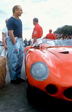 "definemotorsports: "" Juan Fangio and his Maserati at the 1957 Cuban GP World Formula One driving champion Juan Manuel Fangio standing next to the Maserati that would take him to victory in the inaugural running of the ""Gran Premio de Cuba"". Sports Car Racing, F1 Racing, Road Racing, Race Cars, Maserati, Bugatti, Grand Prix Racing, Le Mans, Alfa Romeo"
