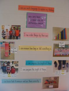 Learning Goals/Success Criteria for Math