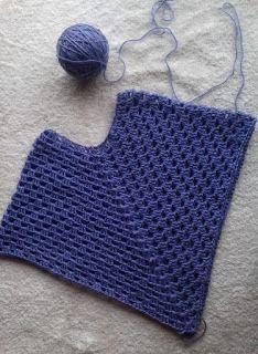 Tejido Facil: Patrón: Poncho en una pieza facilísimo y rápisímo de tejer!!!