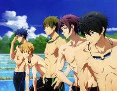 Free! I eating Swim Club.   I'm just saying, the story isn't bad, but nobody watches this for the plot unless they're a sexually confused person XD