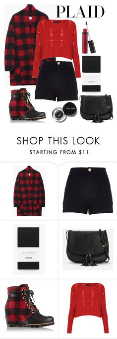 """""""Plaid"""" by cinderstarr ❤ liked on Polyvore featuring Étoile Isabel Marant, River Island, Chico's, Laura Geller, Bobbi Brown Cosmetics, SOREL and Topshop"""