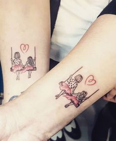Cherish all the quiet moments you get to share. Mother And Daughter Tatoos, Mommy Daughter Tattoos, Mommy Tattoos, Mother Tattoos, Tattoos For Daughters, Sister Tattoos, Couple Tattoos, Love Tattoos, Small Tattoos