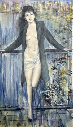 Half Naked Woman by Boris Vinokurov Painted Signs, Naked, Original Paintings, Woman, Artist, Artists, Painted Plates