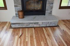 Hickory floor with black walnut boarder