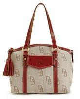 Dooney & Bourke Handbag, Signature Jacquard Front Pocket Satchel