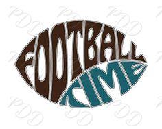 Digital Football time Word Art in Oval Football shape