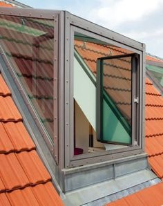 All Time Best Unique Ideas: Skylight Roofing Architecture roofing house leth gori. Attic Window, Roof Window, Attic Renovation, Attic Remodel, Attic Rooms, Attic Spaces, Roof Design, Exterior Design, Dormer Windows