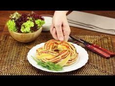 Denne pizzarulle med laks vil få dine gæster til at trygle om mere Skewer Appetizers, Finger Food Appetizers, Finger Foods, Appetizer Recipes, Broccoli Pesto, Easy Eat, High Tea, Diy Food, Food Videos