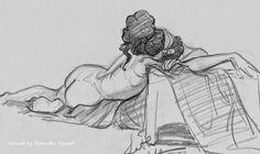 Pixar Drawing Samantha Youssef - Masters of Anatomy Gesture Drawing, Body Drawing, Anatomy Drawing, Drawing Poses, Life Drawing, Drawing Sketches, Pencil Drawings, Figure Sketching, Figure Drawing Reference