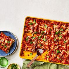 Sheet Pan Vegetable Lasagna No Boil Lasagna, Meat Lasagna, No Noodle Lasagna, Easy Lasagna Recipe, Lasagna Recipes, Beef Recipes, Yummy Recipes, Yummy Food, Easy Vegetable Lasagna