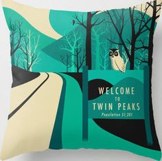 Twin Peaks Throw Pillow ...