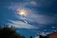Iriserende skyer
