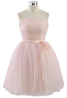 Endless Pink Tulle Bustier Mesh Prom Dress - Party - Dress - Retro, Indie and Unique Fashion