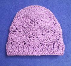 Cats-Rockin-Crochet Fibre Artist.: The Shy Butterfly-Baby Beanie-Free Crochet Pattern