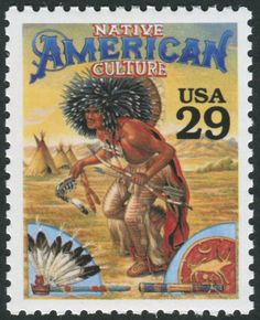Legends of the West [Native American Culture] stamp, Stamp Catalogs attached to this pin. Native American Models, Native American Artifacts, Native American Indians, American Symbols, Native Indian, African Art Museum, African American Museum, American History, Commemorative Stamps