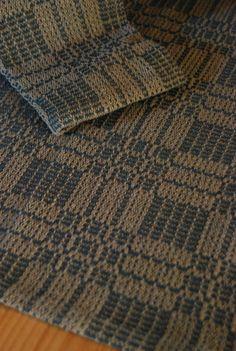 Handwoven Tea Towel- Antique - Honeycomb Weave Pattern