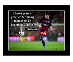 Ready to frame motivational poster. Inspirational Lionel Messi soccer quote. Inspirational Posters, Motivational, Soccer Motivation, Messi Soccer, Birthday Wall, Husband Gifts, Visual Aids, Lionel Messi, Quote Posters