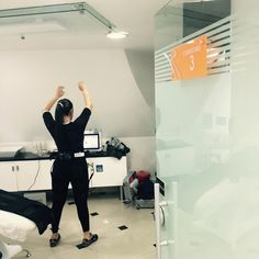 Wav-e during medical test in Colombia.