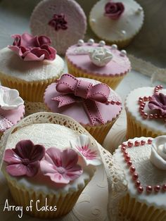 By Array of Cakes    Vintage Lace Cupcakes