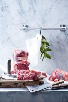 Lamb at butcher, food photography