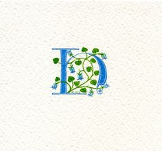 Letter 'H' handpainted in turquoise with by claremccrory27 on Etsy, £22.00