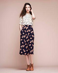 Lauren Moffat Woodstock Pintuck Top + Uma Midi Skirt