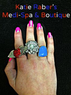 We have a variety of patriotic jewelry! For more information give us a call at 714-840-4004! And of course the lovely nails were done by the one and only Jordan!