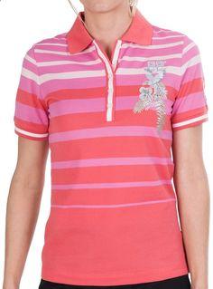 Bogner Coco Ombre Stripe Golf Polo Shirt - Cotton, Short Sleeve (For Women)