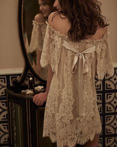 Boho inspired vintage lace (link in bio to shop the isla chemise)