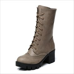 >> Click to Buy << 2016 Hot genuine leather women mid calf boots women autumn winter boots shoes woman botas mujer motorcycle lady snow boots  #Affiliate