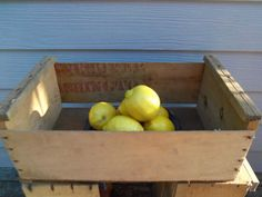 Vintage Wooden Box  Crate Wood Display by alottocollect on Etsy, $20.00 Wooden Storage Boxes, Wooden Boxes, Wood Display, Crates, Fruit, Handmade Gifts, Etsy, Vintage, Wood Boxes