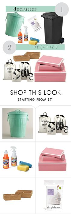 """""""Organise - Declutter"""" by jessica6361 ❤ liked on Polyvore featuring interior, interiors, interior design, home, home decor, interior decorating, Cost Plus World Market, Improvements, Jayson Home and simplehuman"""