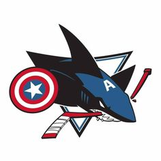 Let's go Sharks! All About Sharks, Pens Hockey, Lets Go Pens, White Whale, San Jose Sharks, Bucky, Nhl, Pittsburgh, Captain America