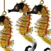Regal Sentries Cloisonne Seahorse Ornaments