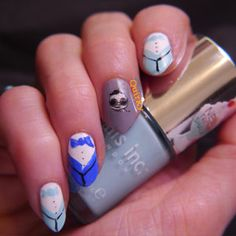 #prom South Korea World cup 2014 nail art