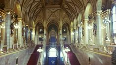 Inside Parliament building. Ceiling is made of gold.