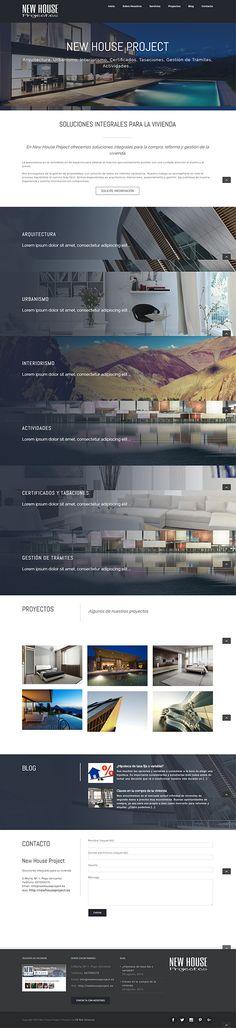 Prototipo de web para New House Project