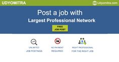 Find your next employee on Uydomitra professional network. Post jobs for free and reach to unlimited professionals. Sign up today and hire the right candidate for the right job from a preferred location. Register Now: www.udyomitra.com/employer-signup