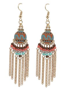 Beaded Crystal Dangle Earrings (One Pair) #DropDangle