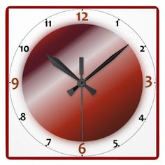 'Red And White Stripes' Wall Clocks