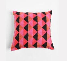 Crewel Prism Pillow- can't wait to re-do my room soon Textiles, Textile Patterns, Print Patterns, Geometric Patterns, Custom Pillows, Decorative Pillows, Decoration, Home Furnishings, Home Accessories