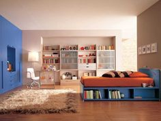 Ultra modern bedroom design you need to have. Feed your design ideas with over thirty five modern bedroom ideas for your perfect bedroom. Kids Bedroom Furniture Design, Room Interior Design, Furniture Ideas, Modern Furniture, Brown Furniture, Interior Ideas, Dorm Furniture, Interior Paint, Modern Interior