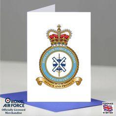 RAF Leuchars Station Crest Badge Presentation Promotion Retirement Card Gift