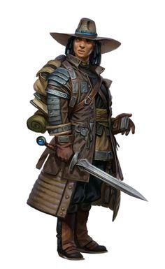 Female Human Adventurer - Pathfinder PFRPG DND D&D d20 fantasy