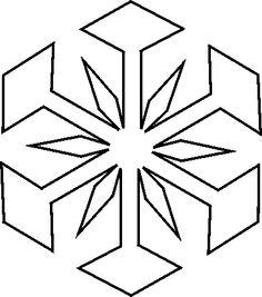 Free Christmas Stencils: Free Christmas Stencil: Snowflake 3