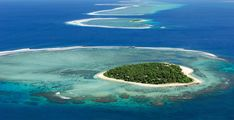 The heart shaped Island in the South Pacific . Experience Fiji . . . the Tavarua Island Resort way .